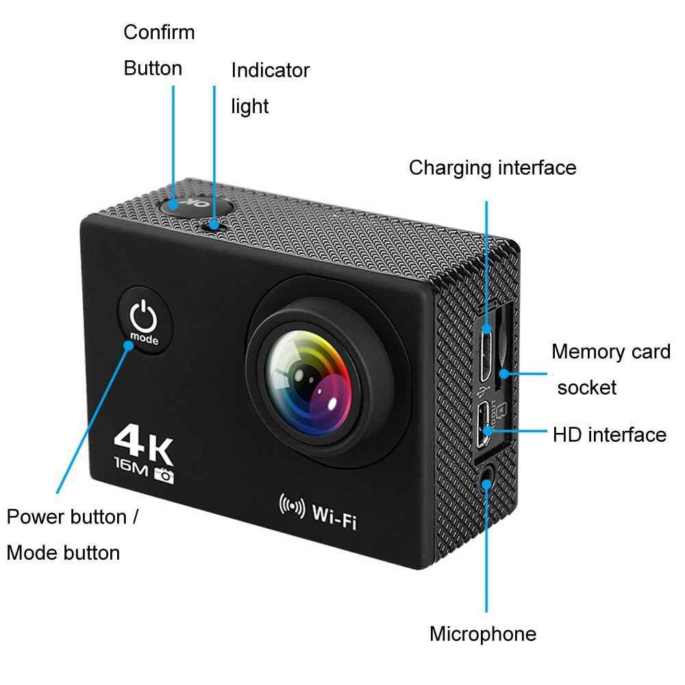 Nouvelle caméra Sport Action étanche AT-Q30RM Wifi 4 K 2.0 pouces 1080 P HD lentille poisson-yeux caméra vidéo en direct avec micro pour Drone FPV RC
