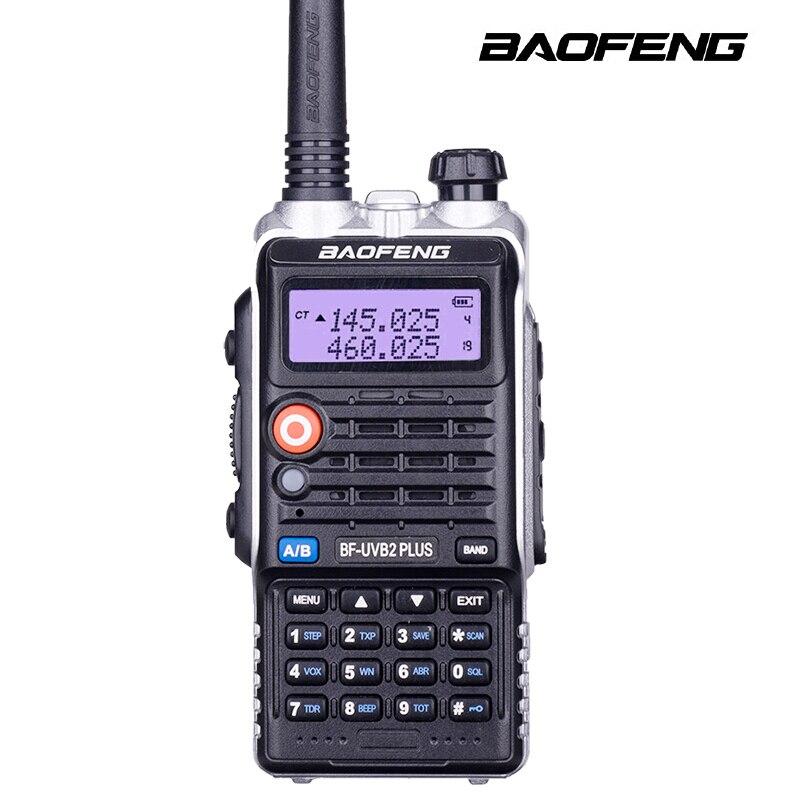 BaoFeng Bf-Uvb2 Plus talkie-walkie haute puissance 8 w écran LCD/lumière LED Radios bidirectionnelles UHF + VHF 136-174 MHZ + 400-520 MHZ 4800 mah