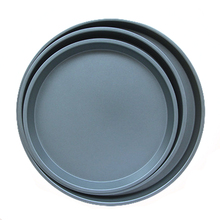 3 Pcs Non-stick Dish Carbon Steel Round Cake Plate Professional Bakeware Baking Tray Pizza Pan Oven