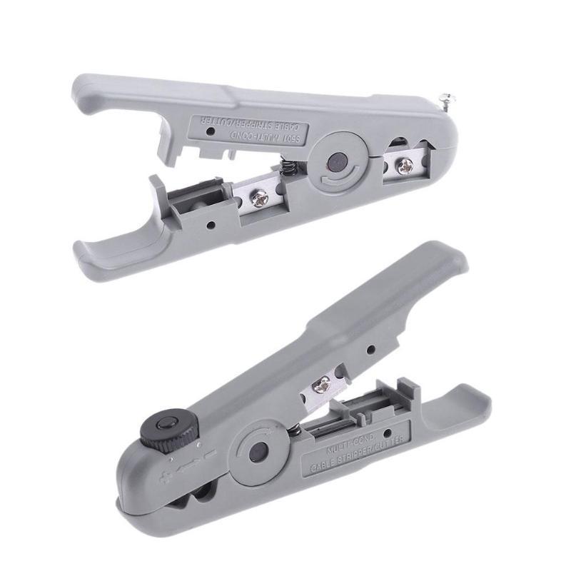Multifunktions Praktische Kabel Stripper Kunststoff Griff Kabel Draht Stripper Tv Abisolieren Werkzeuge Für 3,2-9mm Koaxialkabel Zangen