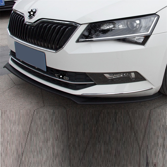 Parachoques Auto Sticker Protector Modification Car Molding Bumper Guard Car-styling Styling Mouldings 16 17 18 FOR Skoda Superb