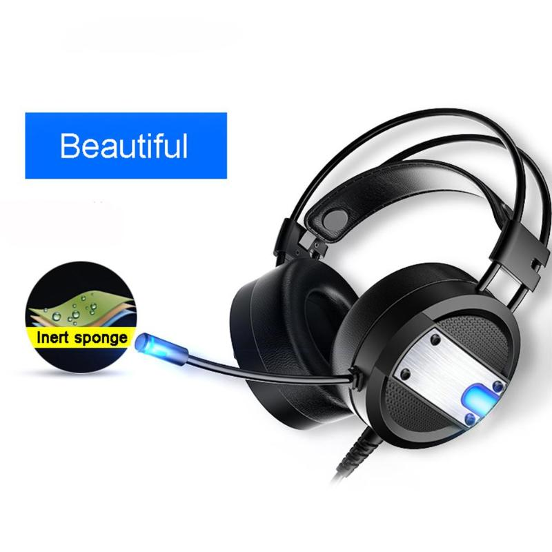 Wired Gaming Headset sport stereo cascos gaming headphone A10 LED Light Deep Bass Headphones with Microphone for PC smartphone