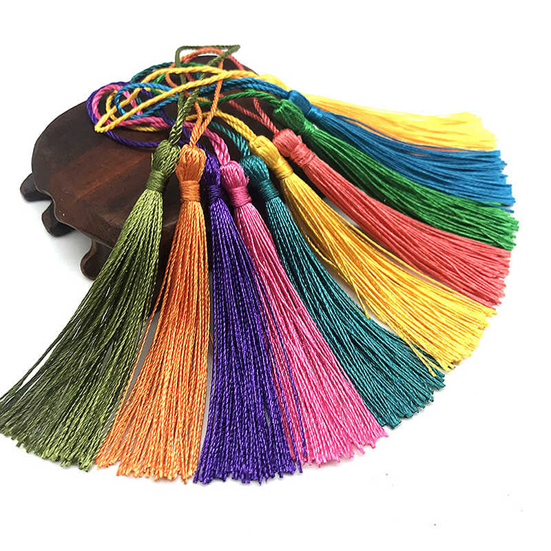 Home Decoration Long Tassel 15PCS/30PCS Silk Tassels Candy Colors 13cm DIY Hanging Curtains Polyester Handmade