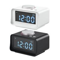 K1 Multi function Digital Alarm Clock With FM Radio Thermometer Dual USB Charging Bedside Electronic Alarm Clock Heavy Sleepers