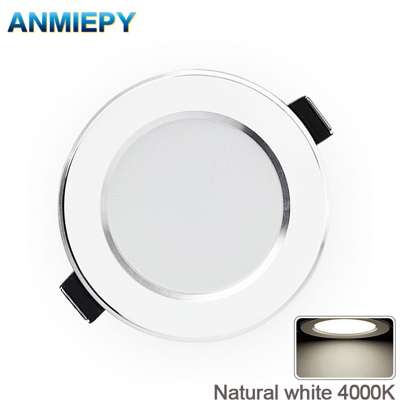 LED Downlight Natural White Recessed Kitchen Bathroom Lamp 220V 230V 5W 7W 9W 12W  LED Down Lights Warm White Cool White(China)
