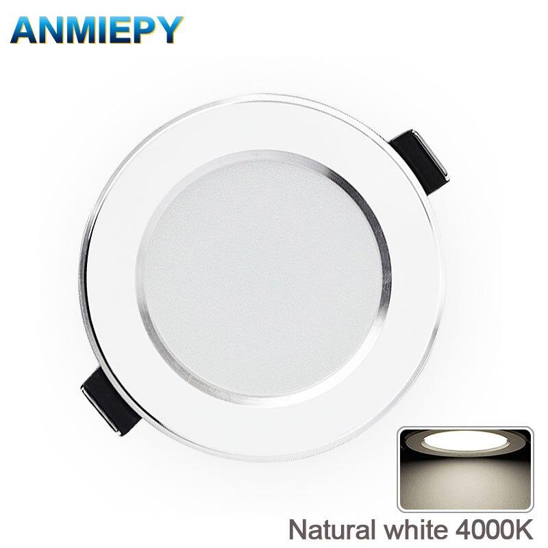 LED Downlight Natural White Recessed Kitchen Bathroom Lamp 220V 230V 5W 7W 9W 12W  LED Down Lights Warm White Cool White(China)
