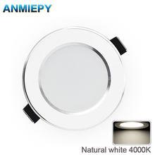 Led downlight cor natural recessed cozinha banheiro lâmpada 220v 230v 5w 7 9 12w led para baixo luzes branco fresco quente
