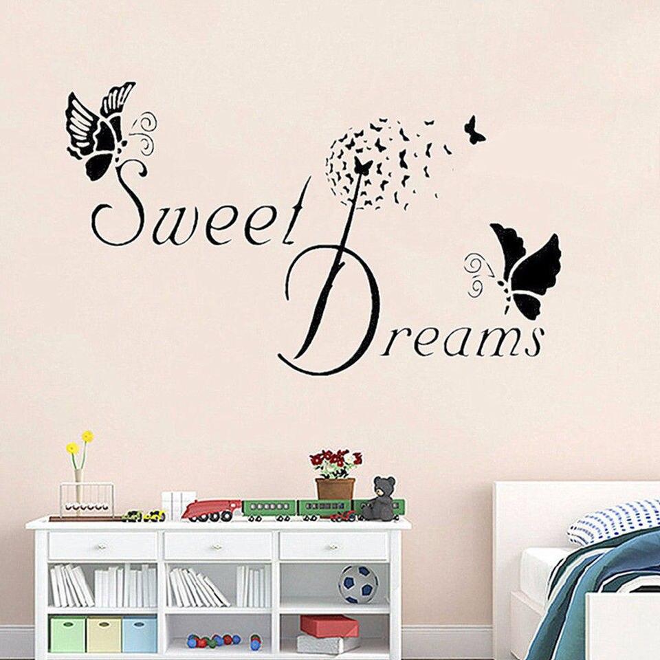 Adesivos De Parede Mural Palavra Viva O Seu Sonho Borboleta Arte Adesivo De Parede Provérbios Luang por