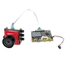 Caddx Turtle V2 800TVL 1.8mm 1080p 60fps NTSC/PAL Switchable HD Mini FPV Camera w/ DVR Red Black For FPV Drone Model Multicopter