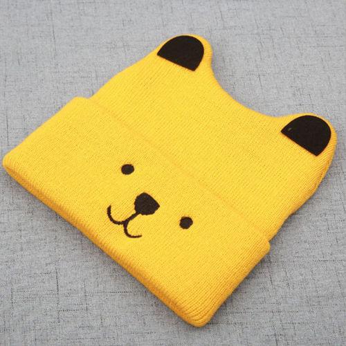 Pudcoco Cartoon Bear Hat For Kids 5