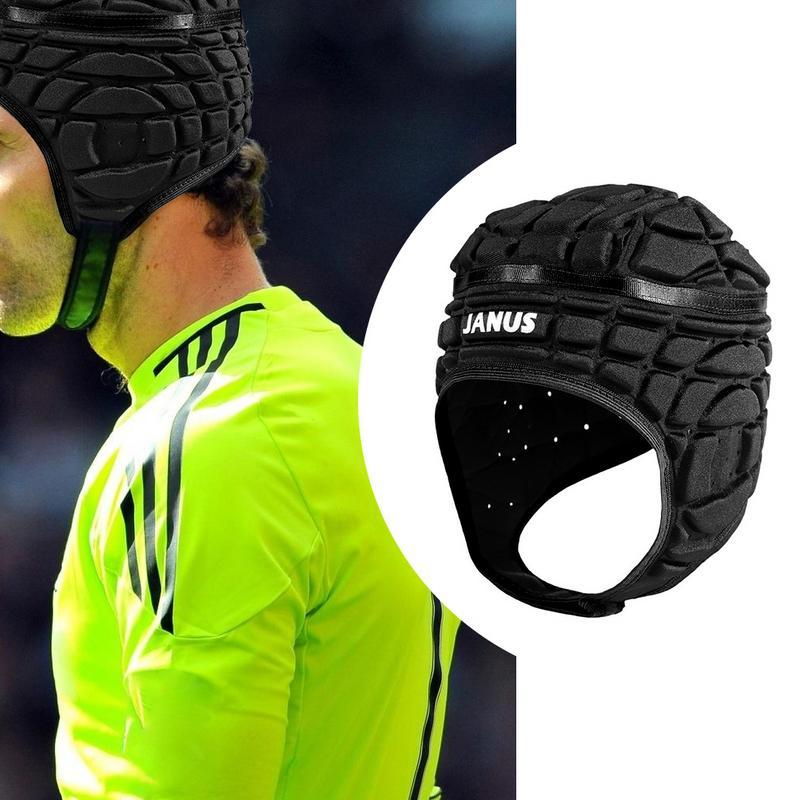 Men's Pressional Football Soccer Goalkeeper Helmet Kids Cap Headguard Goalie Roller Child Hat Head Protector