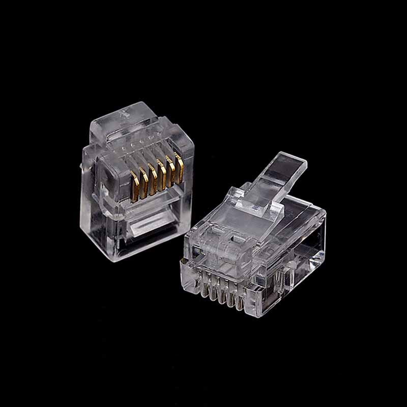 Image 5 - 20/50/100PCS/lot RJ11 6P2C 6P4C 6P6C Telephone Internet Modular Plug Jack RJ11 Connector RJ 11 Crystal Heads-in Computer Cables & Connectors from Computer & Office