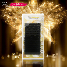 Misslamode all size 16rows/tray 7-15mm mix individual mink eyelashes extension russian volume supplies