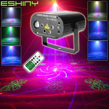 ESHINY MINI 5 Objektiv Remote RGB Laser 128 Muster Projektor LED Club Party Bar DJ Urlaub Weihnachten Dance Bühne Wirkung licht N85T251(China)