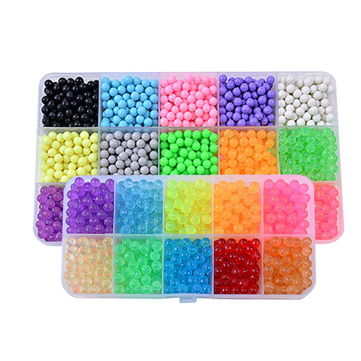 5200pcs Water Fog Bead Toy Set DIY Craft Animal Children Hand-adhesive Beads Puzzle Toy Multicolor