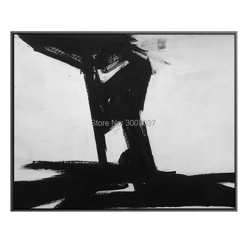 Wall Art Painting Art Hand painted Abstract Black and White Oil Paintings Large Canvas Painting Modern Home Decor Wall Art