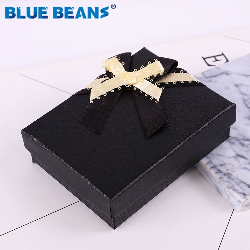 Box Black 2019 Jewelry Necklace Earrings Ring Packaging Hot Sell Paper Gift Jewellery Organizer Sponge Boxes Gift Bangles Bow CC