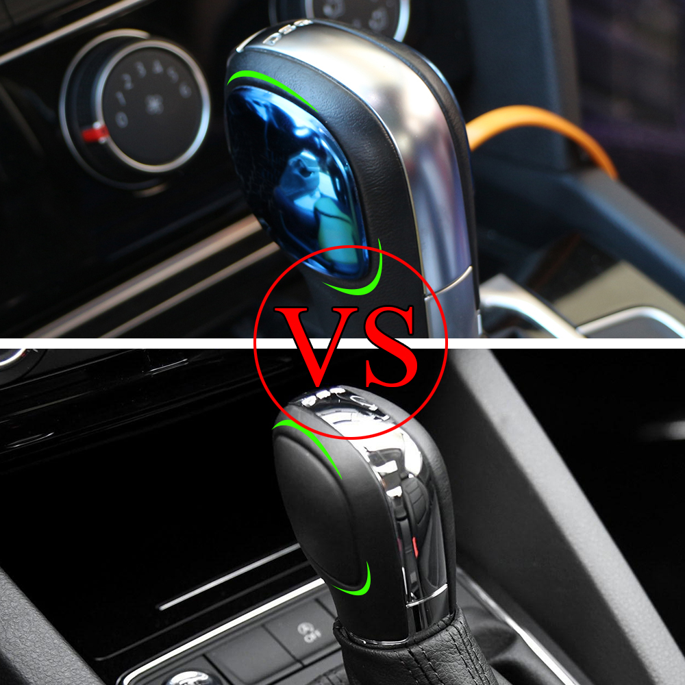 2Pcs Stainless Steel Car Gear Head Shift Knob Trim Sticker for <font><b>VW</b></font> <font><b>Golf</b></font> 6 <font><b>7</b></font> R <font><b>GTI</b></font> Passat B7 B8 CC R20 Jetta MK6 Tiguan image