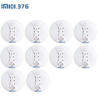 LM101.376 10PCS Wireless Fire Protection 433MHz Smoke Detector Portable Alarm Sensors For Security Alarm System In Our Store