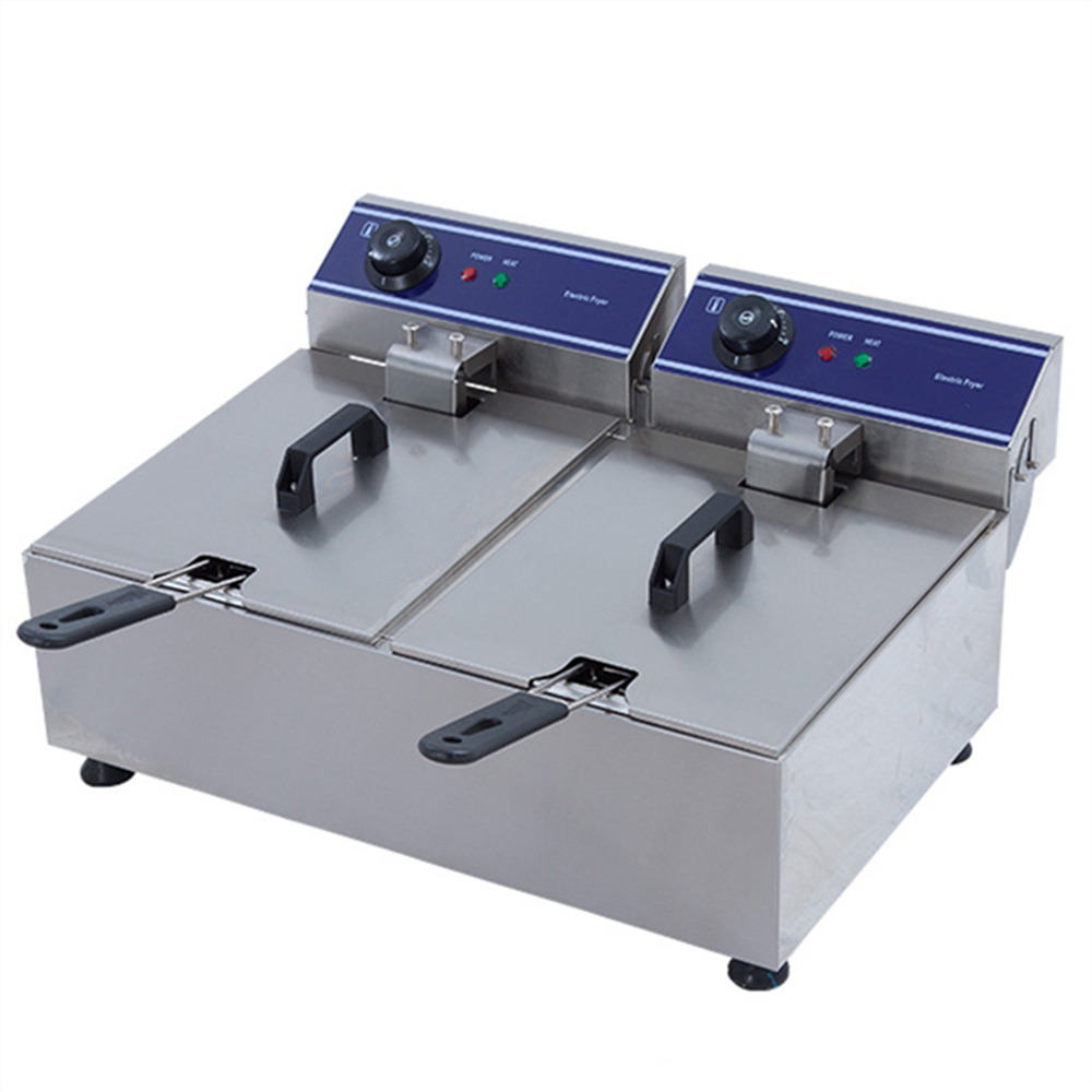 Electric industrial deep fryer deep fat fryer machine commercial potato chips frying machine chicken frying machine fry pan
