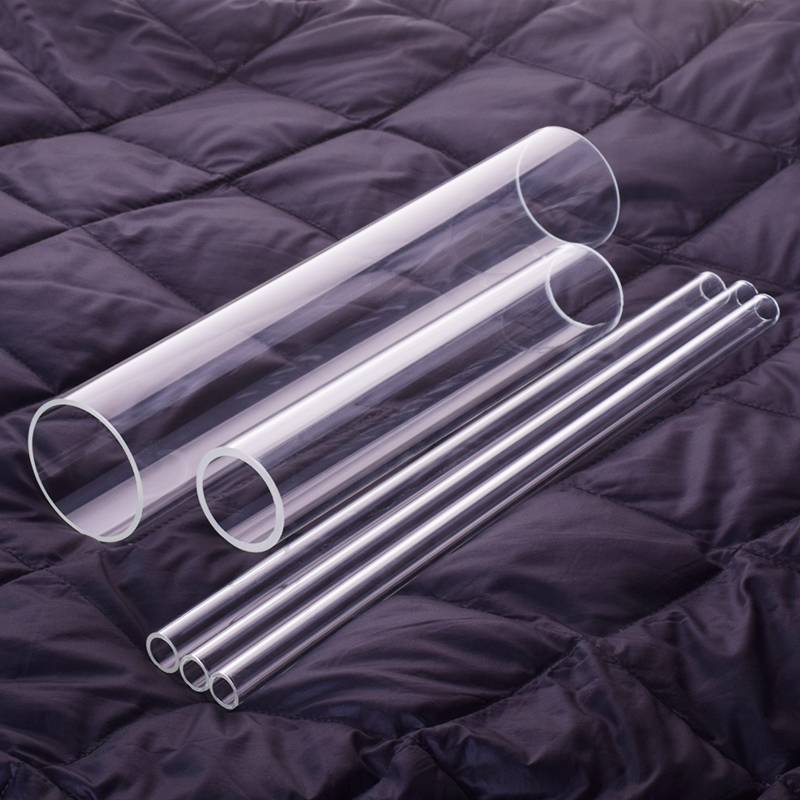 1 pièces en verre à haute teneur en borosilicate, O.D. 250mm, Thk. 5mm, L. 80mm, tube en verre résistant aux hautes températures