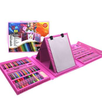 208 шт детский набор для рисования, палочки для рисования, кисти для рисования, простые акварельные ручки, эскизные мелки, подарки