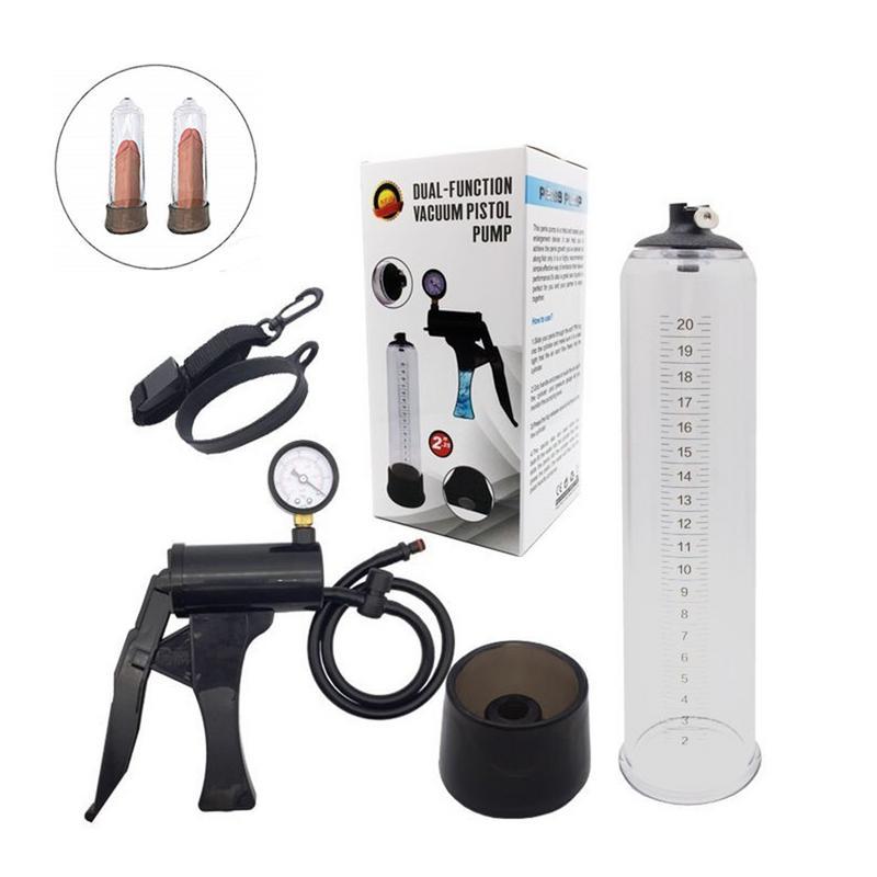 Male Multifunctional Erection Hydrotherapy Vacuum Penis Pump Water Air Exerciser Penis Spa Bath Massager Pressure Gauge Enlargem