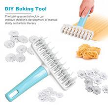 37 шт. роликовая Скалка DIY нож для резки торта набор инструментов для выпечки роликовая скалка для торта Пластиковая форма кухонные аксессуары для выпечки