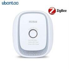 все цены на Ubontoo Zigbee 2.4G wireless gas detector LPG combustible gas leak sensor comes with high sensitivity siren smart home detector онлайн