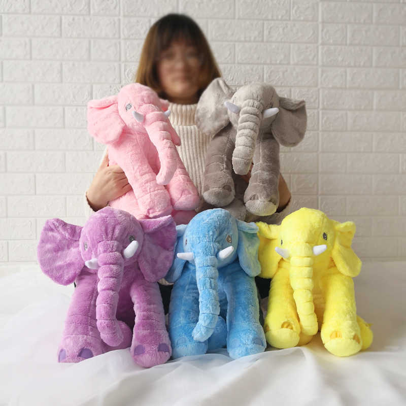 22/40/60cm Infant Plush Elephant Toy Soft Appease Elephant Playmate Calm Doll Baby Toy Elephant Pillow Plush Toys Stuffed Doll