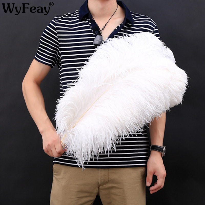 15-75CM 6-30inch All Size 10Pcs White Ostrich Feathers For Crafts Carnival Party Halloween Wedding Decorations Jewelry Plumes