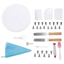 Cake Cupcake Decorating Supplies Turntable Rotating Cream Cakes Stand Piping Bag Icing Spatula Smoother Kitchen Baking Tool Set dcrt rotating cake stand decorating tools set cake turntable icing tips cake spatula scissors set diy baking tool for cake