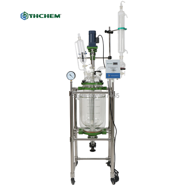 Lab Jacketed Chemical Glass Reactor 20L Glass ReactorLab Jacketed Chemical Glass Reactor 20L Glass Reactor