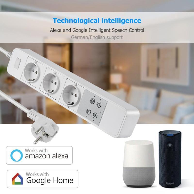 Prise de courant intelligente EU WiFi prise de commande vocale minuterie interrupteur prise de courant avec Smartphone APP pour Alexa Google Smart Home