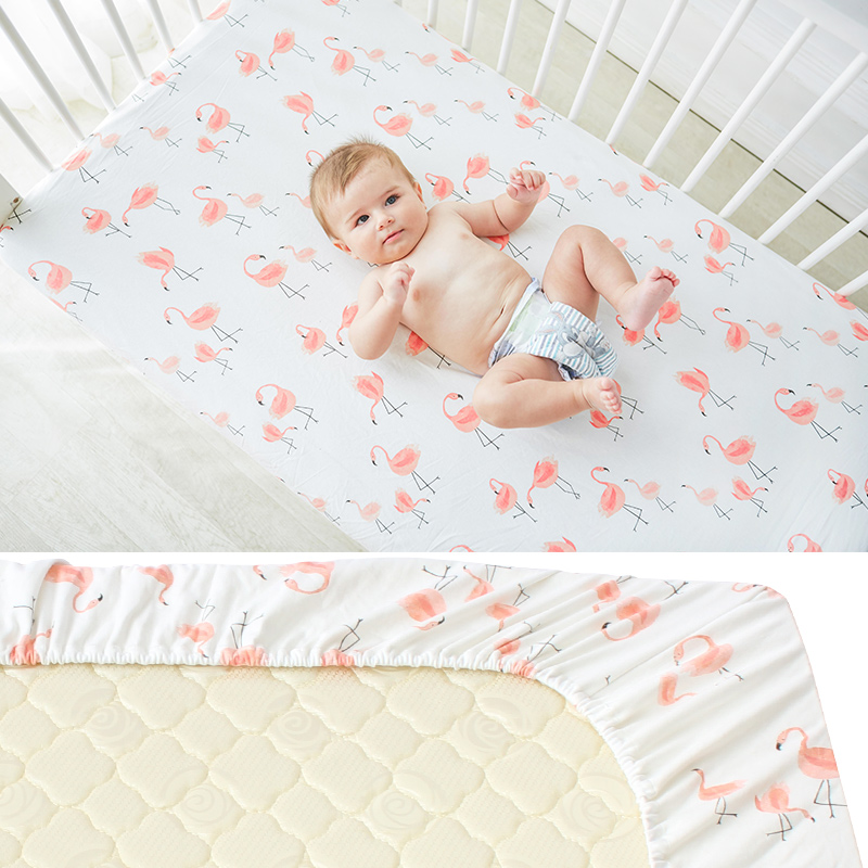 Pure Cotton Baby Crib Fitted Sheet Infant Cot Bed Sheets Soft Breathable Newborn Bedding Soft Mattress Cover Protector