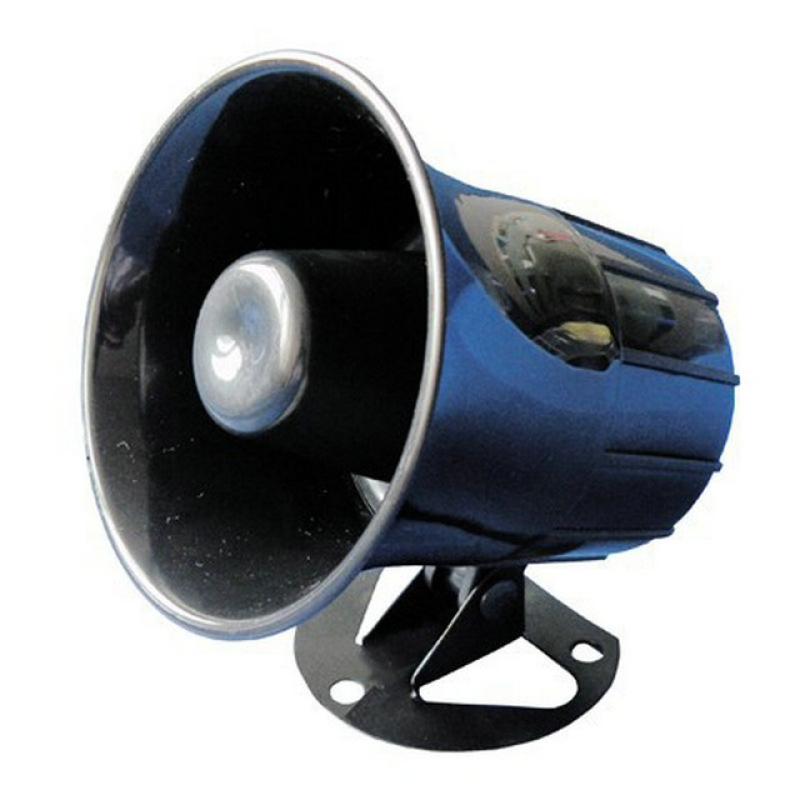 DC12V 15W Wired Alarm Siren Horn without Flash with Alarm Volume Reach 105   -3dB lm