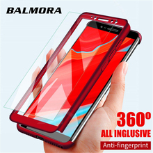 Balmora 360 Full Cover Phone Case For Xiaomi 9 8 SE Lite 6 6X Ultra Thin Protective Cases 5 5X 5Splus Max With Glass