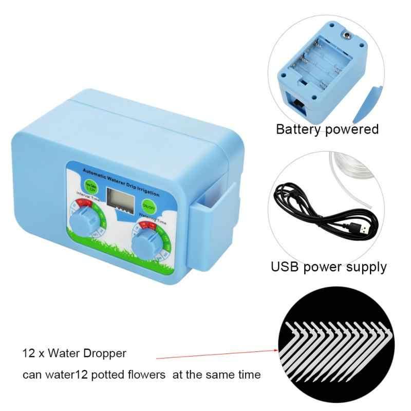 อัตโนมัติสวนชลประทาน Controller Rain Sensor จอแสดงผล LCD อัตโนมัติรดน้ำจับเวลาอิเล็กทรอนิกส์สวนชลประทาน Controller