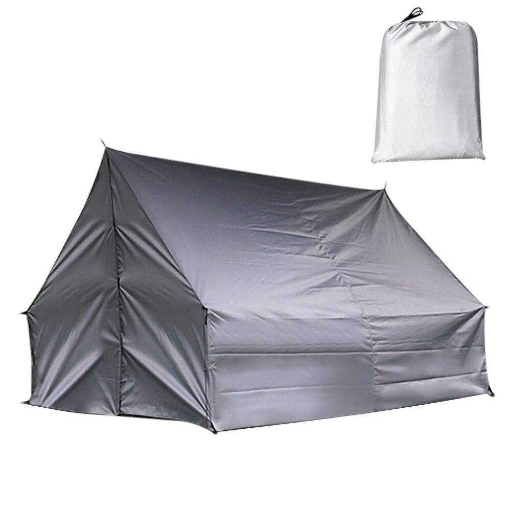 Camping en plein air tente hamac multi-fonctionnel changeant abri pluie mouche imperméable bâche Ripstop pluie couverture voyage randonnée pique-nique