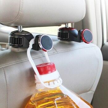 Haute qualité voiture magnétique support rabattable pour appui-tête arrière crochet cintre téléphone portable tablette support