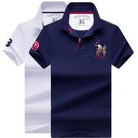 Polo men 2019 Summer High Quality Brand Man Polo Shirt Business Casual Cotton Shirt Polo Men Solid ralph men shirt polo 2pcs 2XL