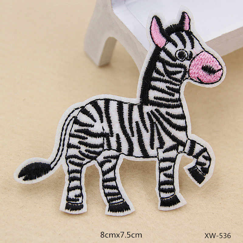 PGY Cartoon Little Animal Patches Cute Monkey Fished Rabbit Embroidery Appliques for Clothes Iron On Badges for Kids Stickers