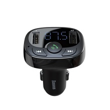 Baseus Dual Car USB Charger in car charger FM Transmitter Phone Bluetooth Handsfree LCD Modulator Cigarette lighter