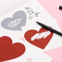 Sixone 20 шт diy сердце царапины наклейка для покрытия любовь