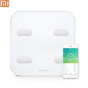 XIAOMI YUNMAI Интеллектуальные bluetooth напольные весы Smart APP жир, весы светодиодный Дисплей зарядка через usb Поддержка Android и IOS