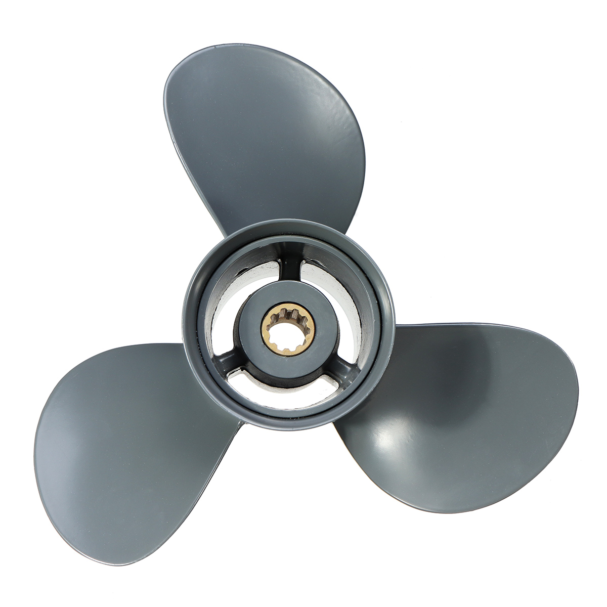 Outboard Propeller For Honda 25 30HP 58130 ZV7 012AH BF25/1994 BF30/1995 Newer 9 7/8 x 12 251mm Aluminum Alloy Boat 3 Blades