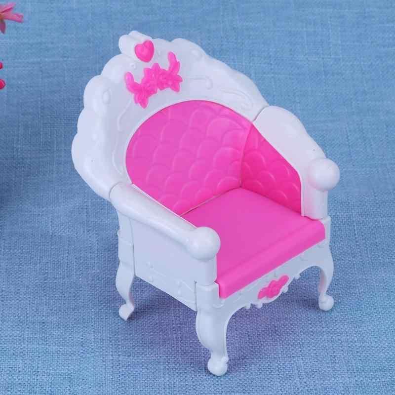 Princesa sofá sillón niña juguete dulce sueño muebles para niñas muñeca accesorios juguetes para niños muñeca regalo de Navidad