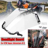 New Motorcycle Transparent Front Headlight Guard Headlight Protector Cover Lens For KTM 1290 Super Adventure R/S 2017 2018