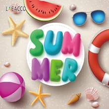 Laeacco Summer Holiday Party Backdrop Tropical Photography Backgrounds Customized Photographic Backdrops For Photo Studio