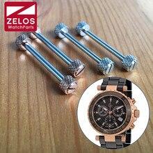 Stalen schroef buis voor GC GUESS Diver Chic Ladies en Collectie heren chronograaf quartz horloge